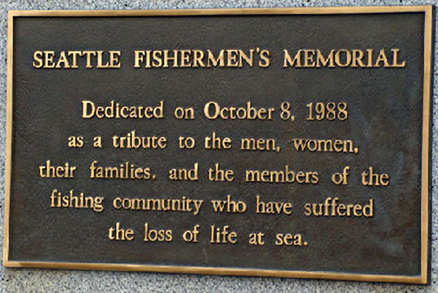 Copyright by Seattle Fishermens Memorial
